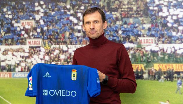 Cuco Ziganda, nuevo entrenador del Oviedo.