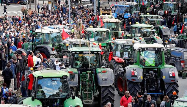Fotos de la manifestación de tractores en Navarra. CASO