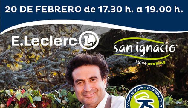 El chef Pepe Rodríguez visitará E.Leclerc este jueves
