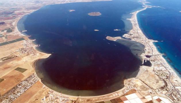 Vista aérea del Mar Menor.