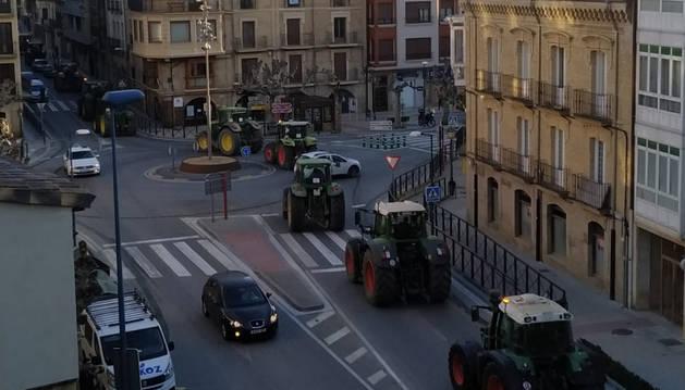 Unos 250 tractores colapsarán hoy carreteras y el centro de Pamplona