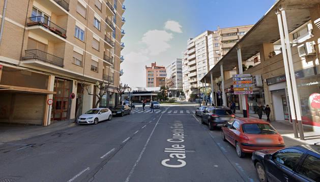 Foto de la Cuesta de la Estación, en Tudela.