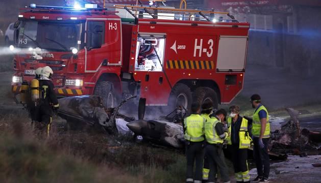 Una avioneta se ha estrellado entre Noáin y Beriáin este jueves.