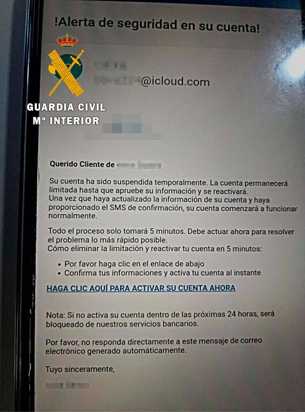 Alertan en Navarra de una estafa por mail que suplanta la identidad de un banco