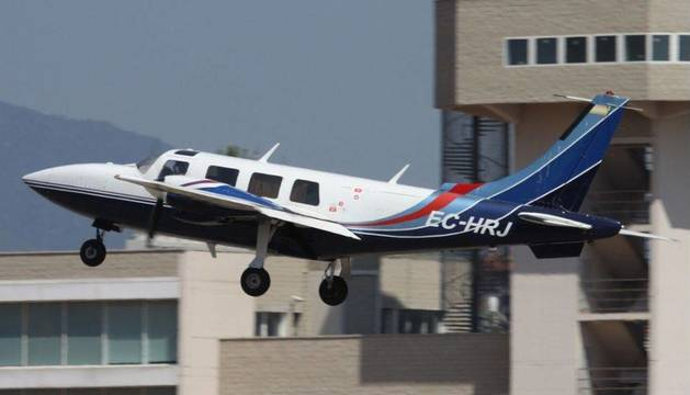 Fotografía de la avioneta de Miranda, en un vuelo pasado.