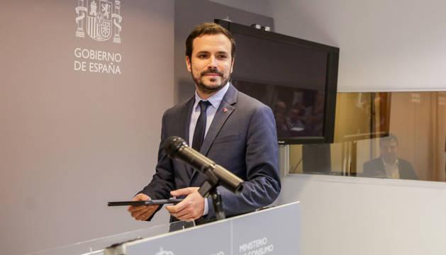 Foto de Alberto Garzón, ministro de Consumo