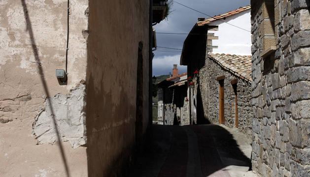 Una calle de Aspurz (Navascués).
