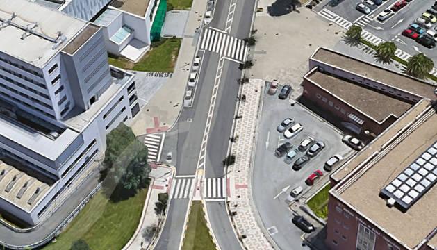 La calle Irunlarrea de Pamplona reducirá su volumen de tráfico.