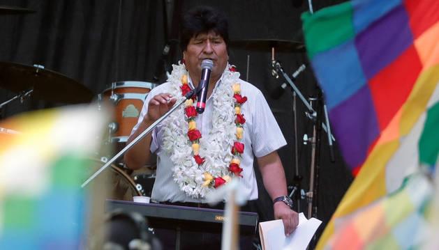 Foto de Evo Morales, durante los festejos del Día Plurinacional de Bolivia, el pasado 22 de enero.