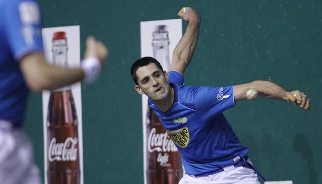 Foto de Jon Ander Albisu, en un partido del Campeonato Parejas 2020.