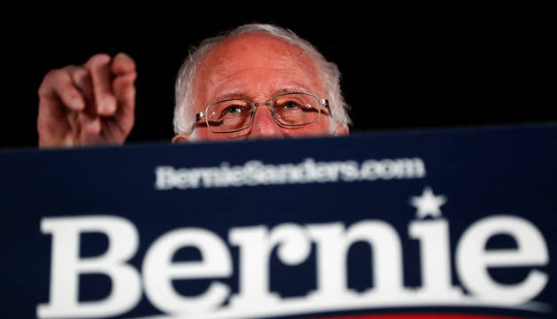 Bernie Sanders, durante un discurso reciente en Las Vegas.