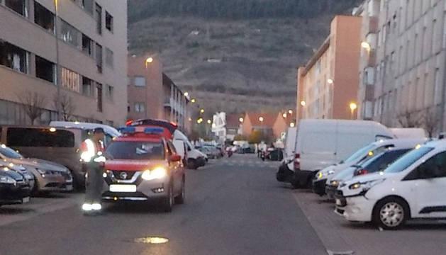 Foto de accidente en Ansoáin.