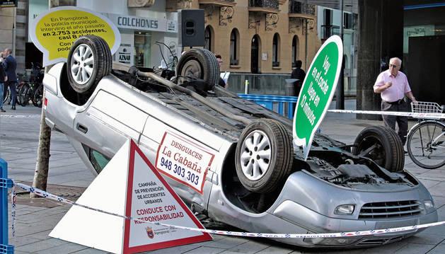 Imagen de una campaña puesta en marcha por el consistorio el pasado mes de enero para conducir con responsabilidad.