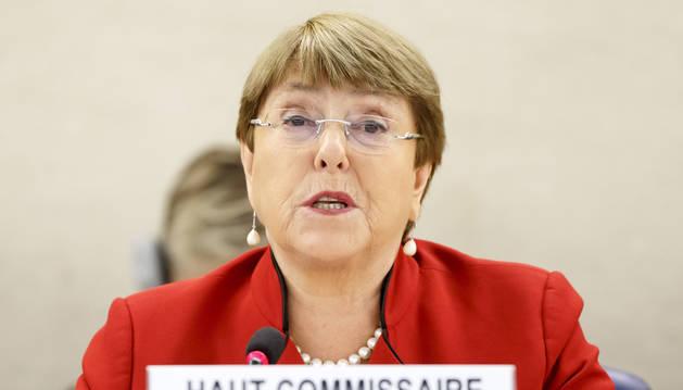 foto de La alta comisionada de la ONU para los derechos humanos, Michelle Bachelet,