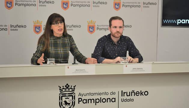Foto de Maite Esporrín y Xabier Sagardoy, este lunes.
