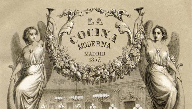Portada de 'La cocina moderna', de Manuel Garciarena y Mariano Muñoz (1857). r. c.