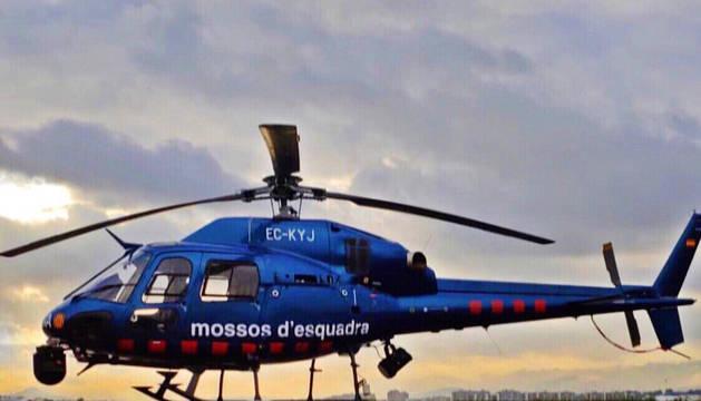 Un helicóptero de los Mossos D'Esquadra.
