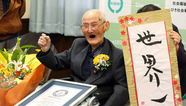 foto de El japonés Chitetsu Watanabe ha fallecido a los 112 años tras ser nombrado el hombre más anciano del mundo