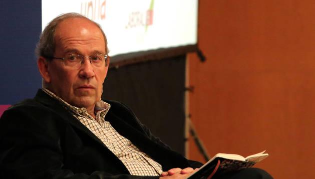 Foto de Javier Echeverría, en una de sus recientes visitas a Pamplona.