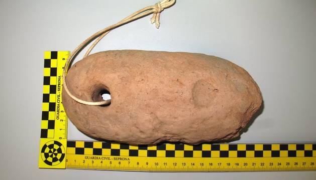 Imagen de la pieza arqueológica recuperada en Cortes.