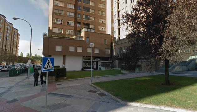 Calle Miguel Astráin, donde se ha producido el incendio.