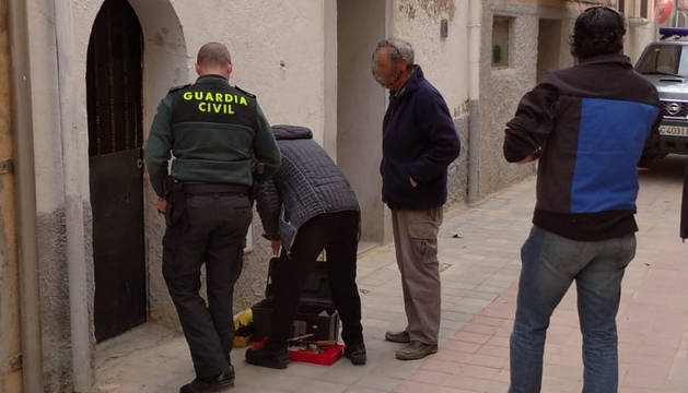 Liberada una mujer de 96 años a la que el cerrajeró encerró en una vivienda de Marcilla