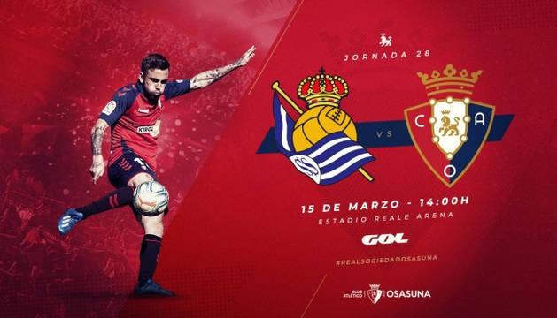 Osasuna se enfrentará a la Real Sociedad el próximo 15 de marzo.