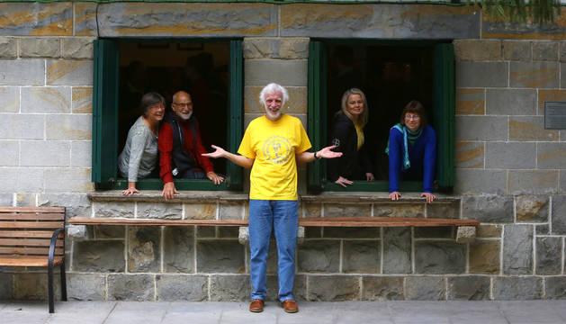 Foto de los voluntarios Marita Jewortutzki, Peter Hortsmann,Simone Felden y Sabine Schlotter