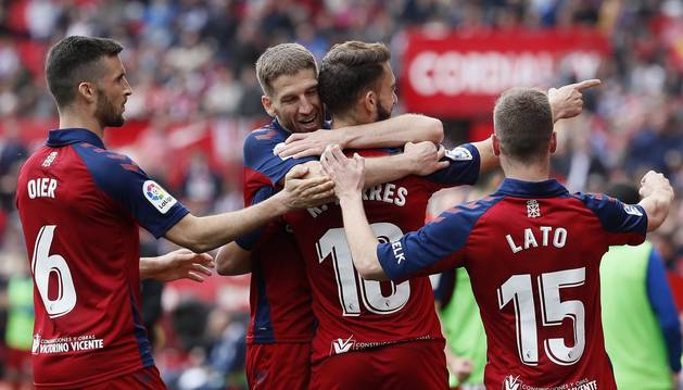 Galería de fotos del partido Sevilla-Osasuna, correspondiente a la 26ª jornada de LaLiga Santander.