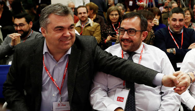 Foto de Santos Cerdán (izquierda), junto a Javier Remírez.