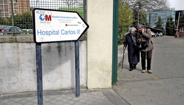Foto del Hospital Carlos III de Madrid donde se encuentran ingresados pacientes por coronavirus.