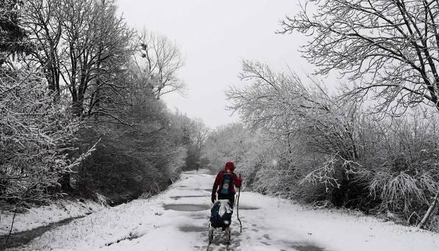 Fotos de la nieve en Navarra de este martes 3 de marzo
