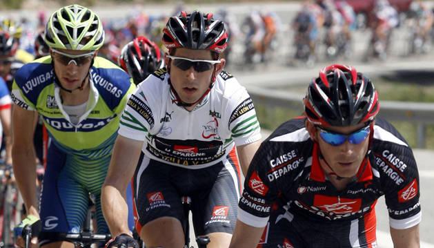 Nicolas Portal, delante del navarro Imanol Erviti, en una carrera en 2007.