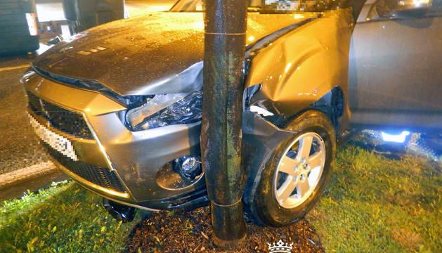 Accidente de tráfico en la Rochapea.
