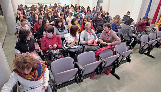 Un momento de la sesión sobre el suicidio en las aulas.
