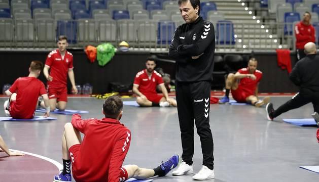 Fotos del entrenamiento de Osasuna Magna en el Martín Carpena de Málaga