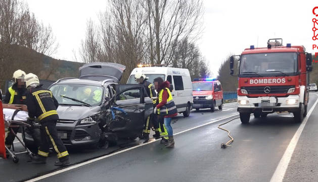 Accidente de tráfico en Sorauren.