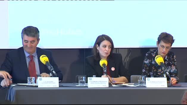 """Adriana Lastra, en Pamplona: """"La relación con Podemos es buena, pero tenemos que mejorar la coordinación"""""""