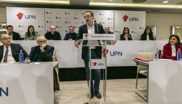 Foto del presidente de UPN, Javier Esparza.