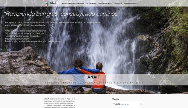 Portal web de la Asociación Navarra de Apoyo a la Infancia y la Familia