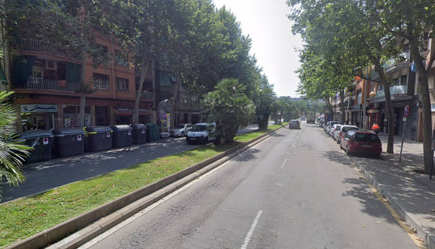 Avenida de Joan XXIII en Badalona.