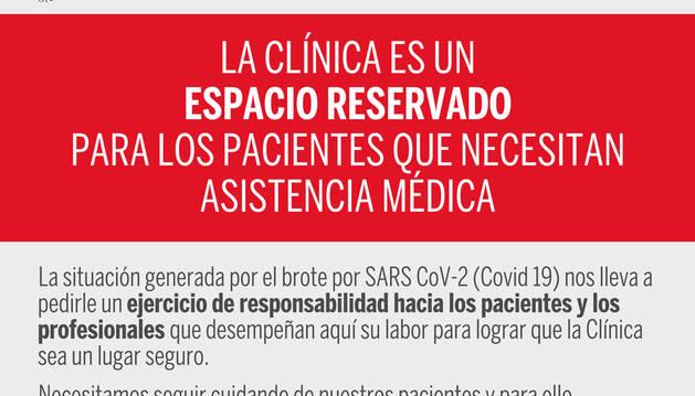 La CUN controlará el acceso al centro para preservar el hospital del coronavirus