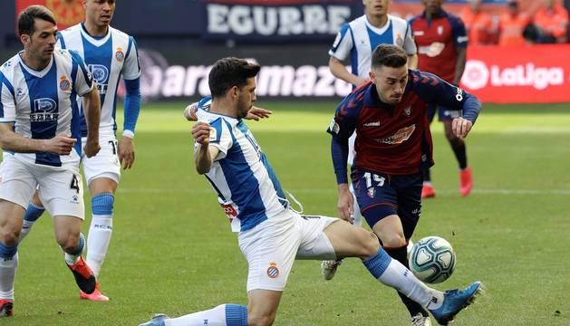 Galería de fotos del partido Osasuna-Espanyol, disputado en El Sadar y correspondiente a la jornada 27 de LaLiga Santander.