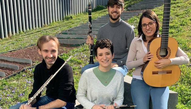 Unai Casado (flauta), Ane Ruiz (oboe), Óscar Murillo (clarinete) e Iosune Marín (guitarra).