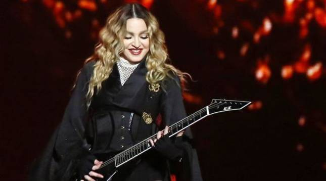 foto de Madonna, durante un concierto