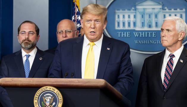Trump, durante una rueda de prensa sobre el coronavirus.