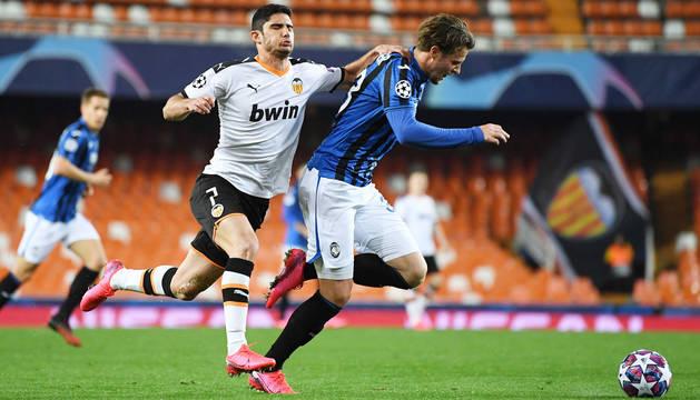 Foto del partido Valencia-Atalanta de Liga de Campeones.