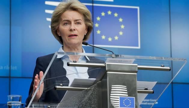 Foto de Ursula Von der Leyen, presidenta de la Comisión Europea.