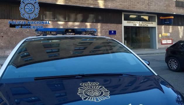 Imagen de la comisaría de Policía Nacional de Pamplona.