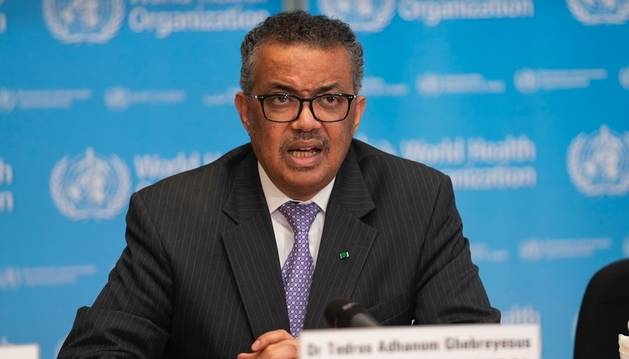 El director general de la Organización Mundial de la Salud, Tedros Adhanom.